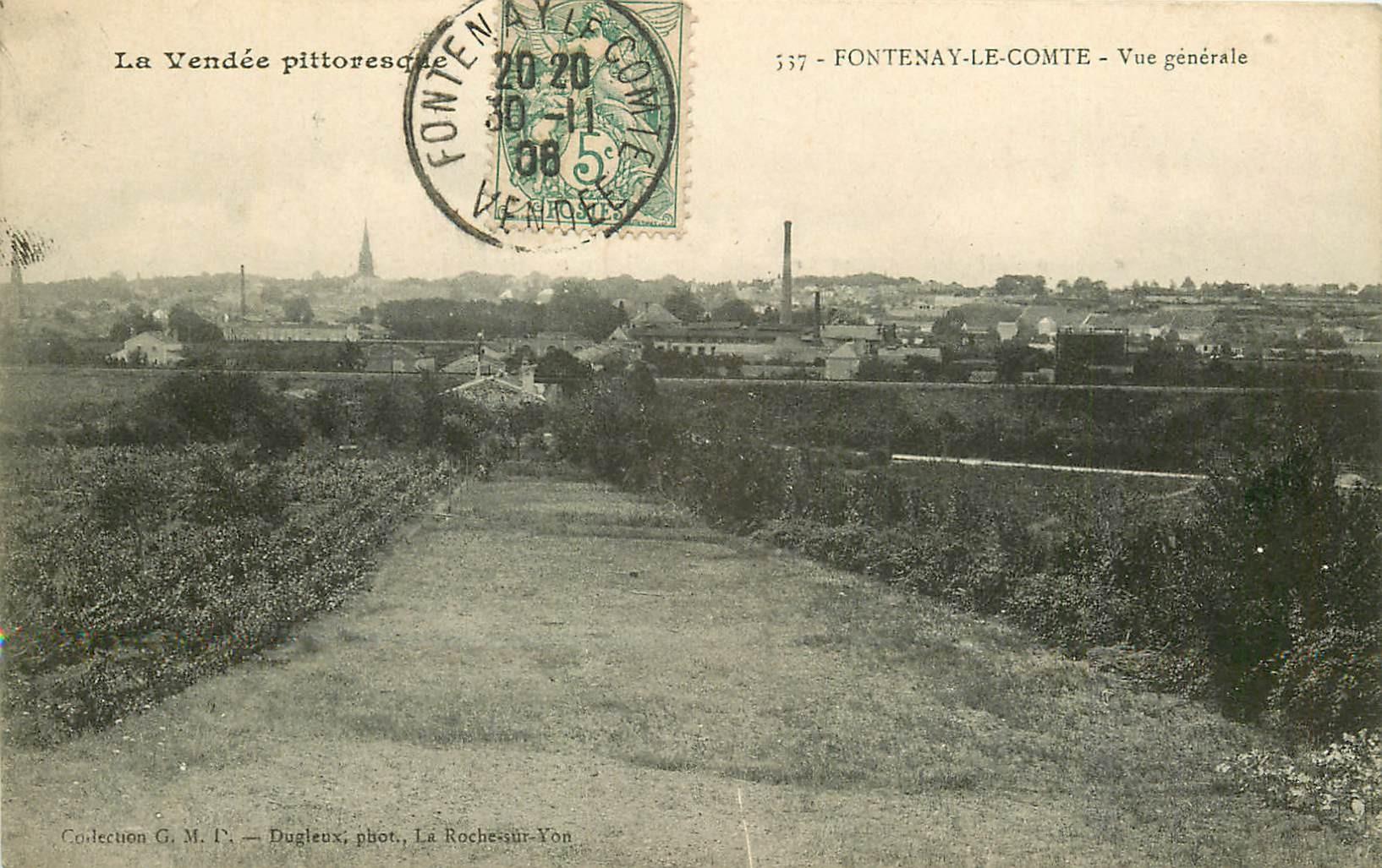 85 FONTENAY-LE-COMTE. Vue sur la Ville 1906