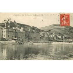 12 SAINT GENIEZ DE RIVE D'OLT. Quartier de la Poujade 1913