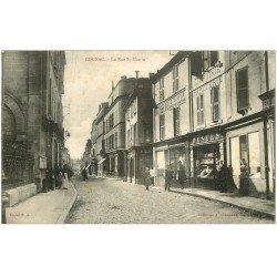 carte postale ancienne 16 COGNAC. Librairie Rue Saint-Martin