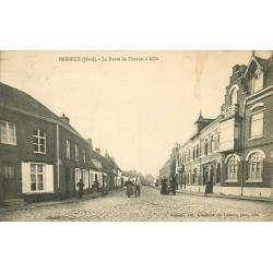59 BAISIEUX. La Route de Tournai à Lille animée 1913