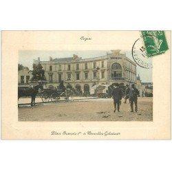 carte postale ancienne 16 COGNAC. Nouvelles Galeries Place François Ier 1912