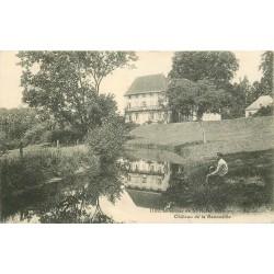 23 AURIAT. Château de la Baconaille avec enfant près de l'Etang 1927 Saint-Moreil