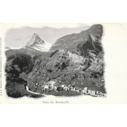 ZERMATT. Vue sur la Ville carte pionnière vers 1900