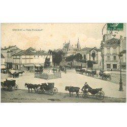 carte postale ancienne 16 COGNAC. Place François Ier 1908