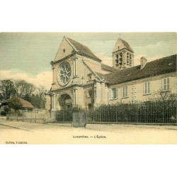 95 LUZARCHES. L'Eglise 1913 carte toilée