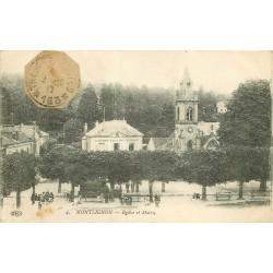 95 MONTLIGNON. Eglise et Mairie 1917