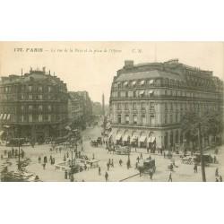 75009 PARIS. Bouche du métropolitain Place de l'Opéra et rue de la Paix
