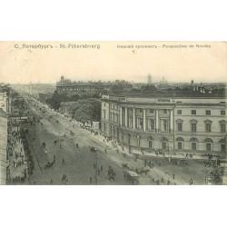 SAINT-PETERSBOURG. Perspective de Nevsky 1906