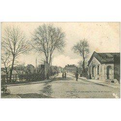 carte postale ancienne 16 COGNAC. Pont de Saint-Jacques 1906