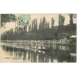 carte postale ancienne 16 COGNAC. Régates de 1905 l'Arrivée