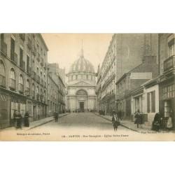 44 NANTES. Eglise Notre-Dameet boutiques rue Mazagran 1918