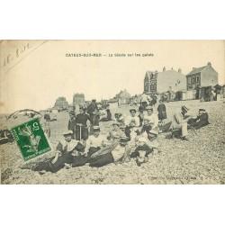 80 CAYEUX-SUR-MER. La Sieste sur les Galets 1912