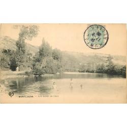 03 MONTLUCON. Militaires se baignant sur les bords du Cher 1906