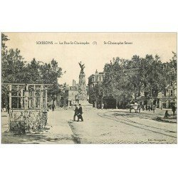 carte postale ancienne 02 SOISSONS. Rue Saint-Christophe