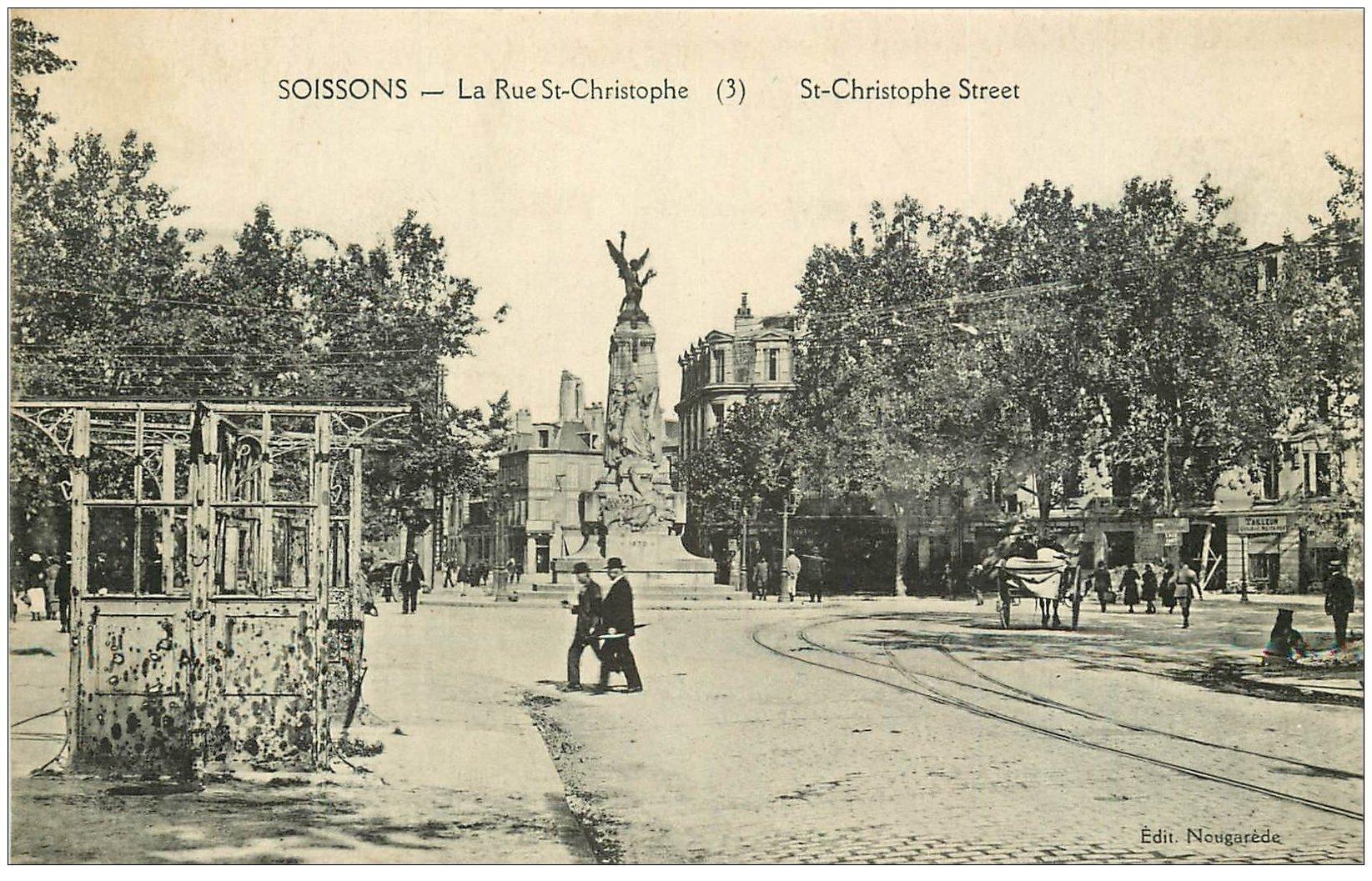 carte postale ancienne 02 SOISSONS. Rue Saint-Christophe
