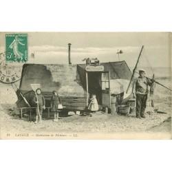"""80 CAYEUX SUR MER. Habitation de Pêcheurs """" au pauvre Toto """" 1912"""