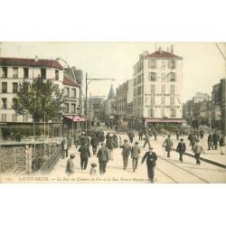93 SAINT-DENIS. Rues du Chemin de Fer et Ernest Renan 1907