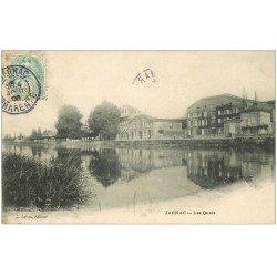 carte postale ancienne 16 JARNAC. Les Quais 1906