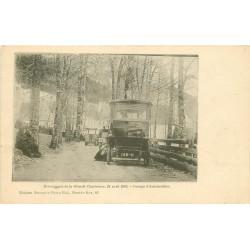 38 Evènements de la Grande Chartreuse en 1903. Groupe d'Automobiles
