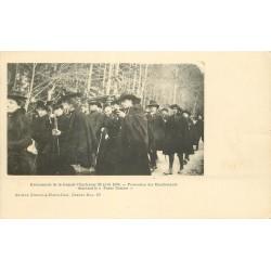38 Evènements de la Grande Chartreuse en 1903. Manifestants Procession chantant le Parce Domine