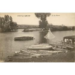 27 PONT-DE-L'ARCHE. Ile Saint-Pierre avec location de Barques 1918
