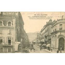 63 CLERMONT-FERRAND. Banque Crédit Lyonnais et Bar du Faisan Doré rue Blatin 1915