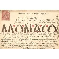 MONACO écrit avec les jambes des Danseuses 1907