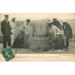 80 CAYEUX-SUR-MER. Le Trocadéro construction artistique en sable 1912