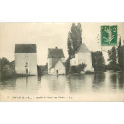 37 ESVRES. Moulin à Eau de Vontes sur l'Indre 1916