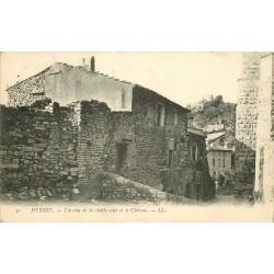 83 HYERES. Vieille Ville et Château 1914 tampon militaire