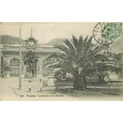 83 TOULON. Gare et Jardin 1907
