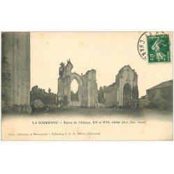 carte postale ancienne 16 LA COURONNE. Ruines de l'Abbaye 1915