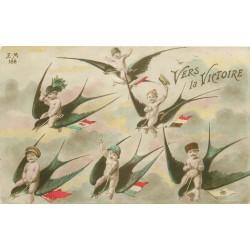 GUERRE 1914-18. Bébés sur Hirondelles vers la Victoire