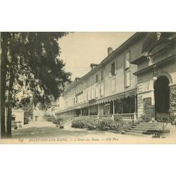 38 ALLEVARD. Hôtel des Bains et programe Spectacle du Casino 1909