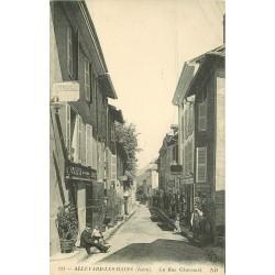 38 ALLEVARD. Rue Charamil Boucherie et Automobiline
