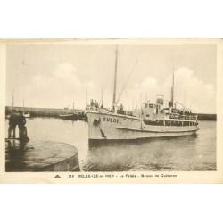 """56 BELLE-ILE-EN-MER. Le Palais bateau de Quiberon """" Guedel """" 1935"""