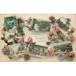 94 FONTENAY-SOUS-BOIS. Souvenir Multivue avec Fleurs 1908