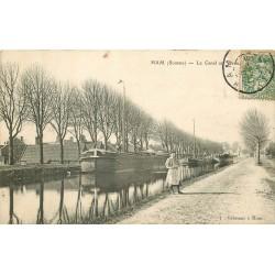 80 HAM. Péniches sur le Canal au Vieux Port 1907