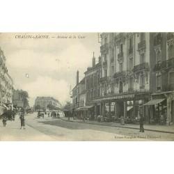71 CHALON-SUR-SAONE. Magasin de Nouveautés avenue de la Gare 1917 tampon militaire