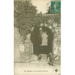 """92 SEVRES. Les Escaliers Brancas 1910 publicité """" Byrrh """""""