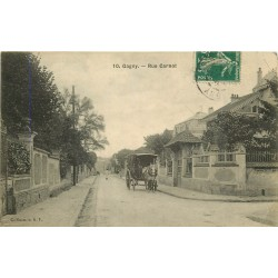 93 GAGNY. Attelage rue Carnot vers 1910
