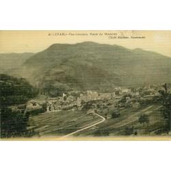 38 ALLEVARD. Route du Moutaret 1911 carte toilée