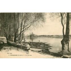 95 CHAPONVAL. Nombreuses barques et barges dans un joli coin 1939