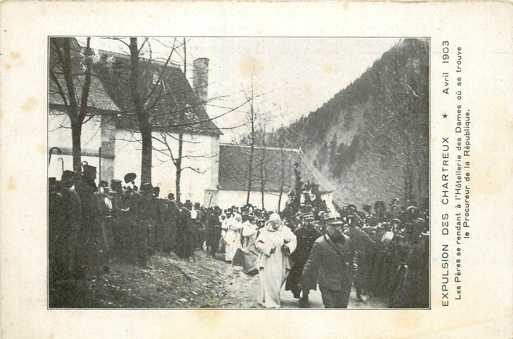 38 Expulsion des Chartreux 1903 les Pères se rendent à l'Hôtellerie des Dames du Procureur de la République
