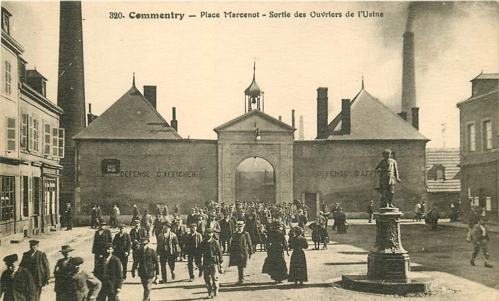 03 COMMENTRY. Sortie Ouvriers de l'Usine Place Marcenot