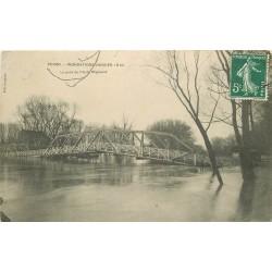 78 POISSY. Pont Ile de Migneaux inondations de 1910