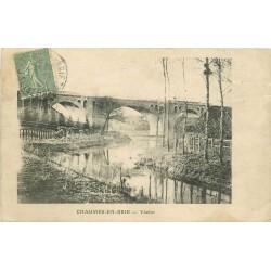 77 CHAUMES-EN-BRIE. Viaduc 1916