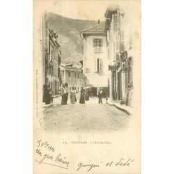 38 ALLEVARD. La rue des Bains 1904 avec le Bureau d'Initiatives