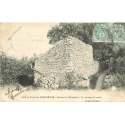 60 COMPIEGNE Forêt. Ruines de Champlieu sur le Chemin de ronde 1905