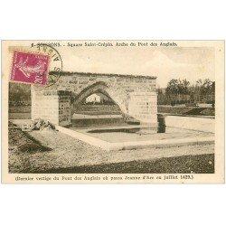 carte postale ancienne 02 SOISSONS. Square Saint-Crépin Arche du Pont des Anglais